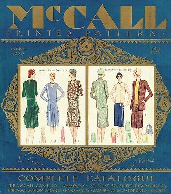 1920s Vintage Sewing Pattern McCall Counter Catalog 1929 350 Page Copy on CD