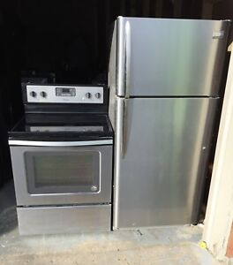 """Can deliver 30"""" very clean fridge and stove set"""