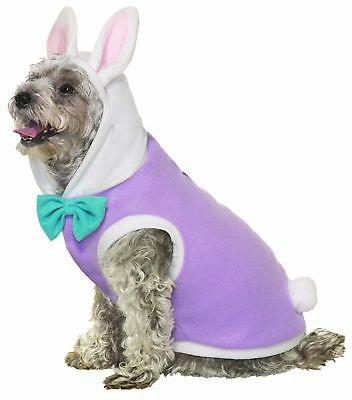 Easter Bunny Rabbit Pet Dog Cat Cute Dress Up Halloween Costume Purple SM-MD ()