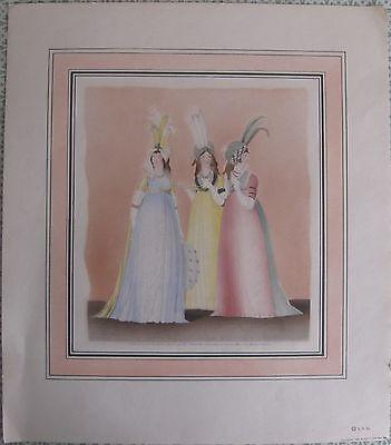 """Gallery of Fashion""  N Heideloff 1939 Art Print 1800s Antique Dresses"