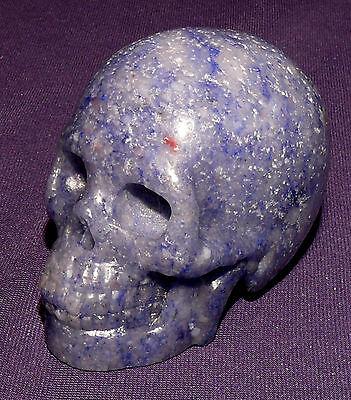 Naturgetreuer Edelsteinschädel, Skull, Aventurin, 102,4g 52x43x34mm, Heilstein