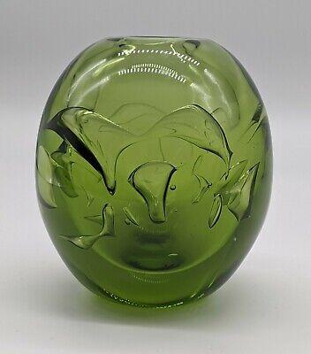 Signed LABINO Art / Studio Glass Ariel or Air Trap Vase 1970 Best Offer