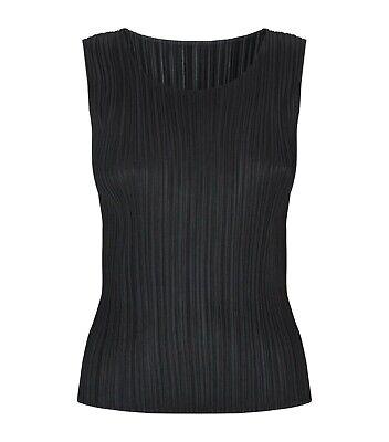 Issey Miyake Pleats Please Pleated Sleeveless Top Size XL