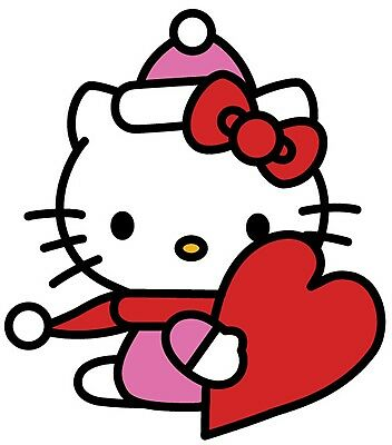Hello Kitty Valentine (Hello Kitty Valentine Iron On Transfer For T-Shirt & Light Color Fabrics)