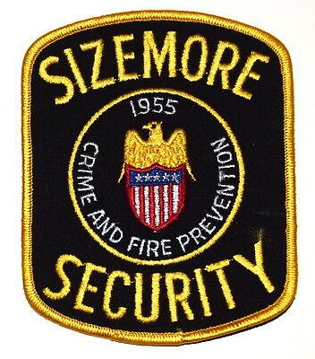 SIZEMORE SECURITY STATESBORO GEORGIA GA Police Sheriff Patch CRIME FIRE PREVENT