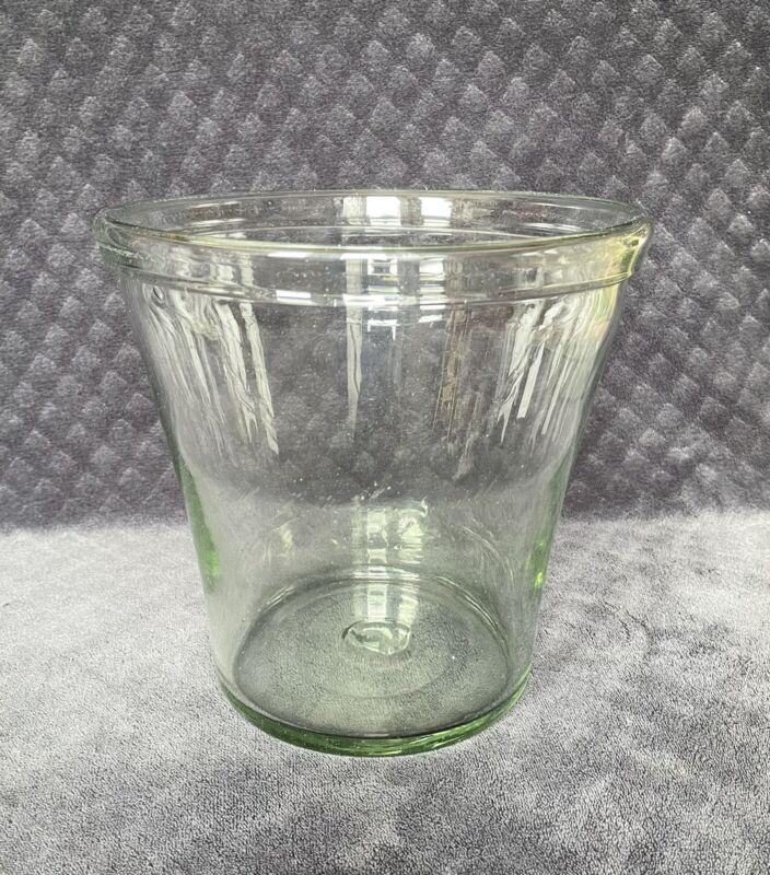 19th Century Antique Early American Free Blown Glass Chemist Jar Leech Bowl Vase
