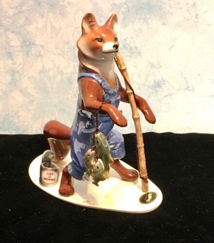 HAGEN-RENAKER FISHING FOX FIGURINE