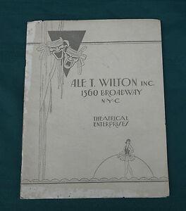 1920s wilton talent agency brochure vaudeville opera. Black Bedroom Furniture Sets. Home Design Ideas