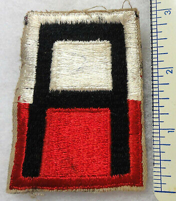 1st Army Shoulder Patch -- Red and White -- Early Cut Edge