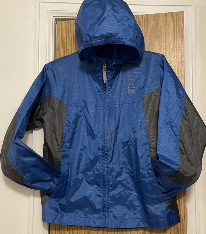 Sierra Designs Microlight boys hooded rain jacket size large
