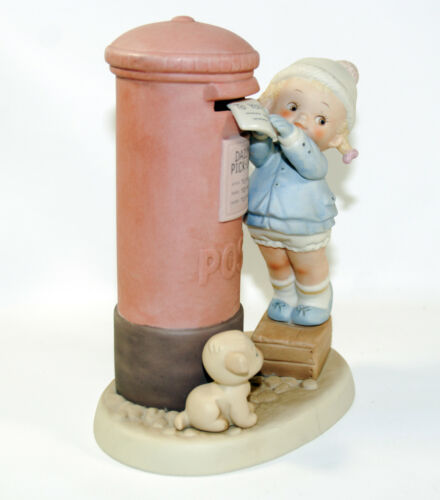"""Memories of Yesterday """"This One for You, Dear"""" Girl Puppy Figurine Enesco 520195"""