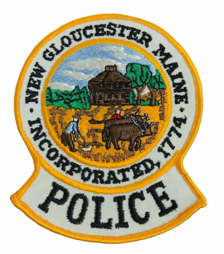 """New Gloucester Police Maine (5"""")  Sew on Patch Obsolete"""