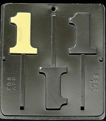Number 1 Lollipop Chocolate Candy Mold 1# Birthday 3429 NEW