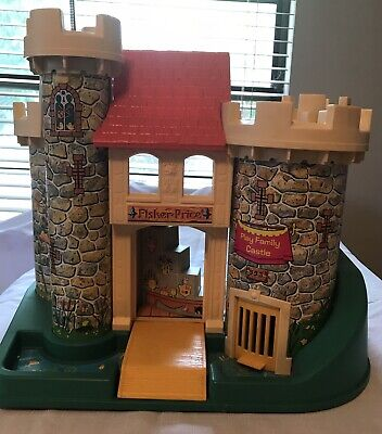 Vintage Fisher Price Little People Play Family Castle  #993. Castle Only. Clean