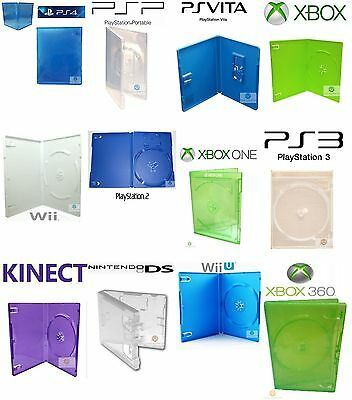 PlayStation PS 2 3 4 Vita UMD XBox 360 One Kinect Nintendo Wii WiiU DS Game Case