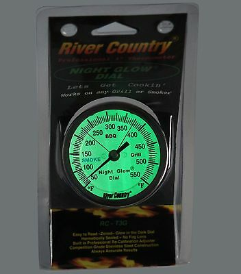 """3"""" RC GLOW IN THE DARK BBQ CHARCOAL GAS ELECTRIC GRILL SMOKER PIT THERMOMETER"""