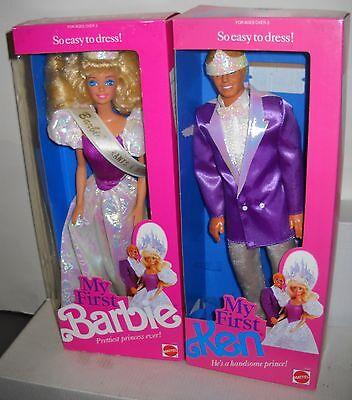 #5796 MIB 1991 Grants A Wish Convention My First Barbie & Ken Fashion Dolls