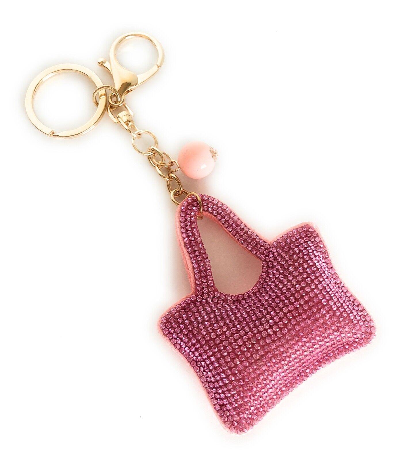 Cute Pink Cushion Keychain bag for Women Handbag Charms Acce
