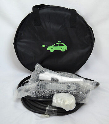 New Electric Car Fast Charger 32A Level 2 J1775 EV EVSE w/Case and Cable 26ft