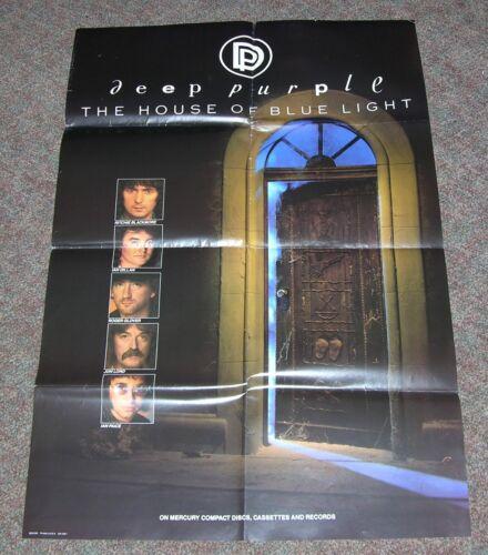 "Deep Purple ""House Of Blue Light"" LP PROMO Poster - Orig 1987 -24x36 -Blackmore"