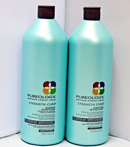 Pureology Strength Cure Shampoo Conditioner 33.8 Liter Set Duo PACK Antifade
