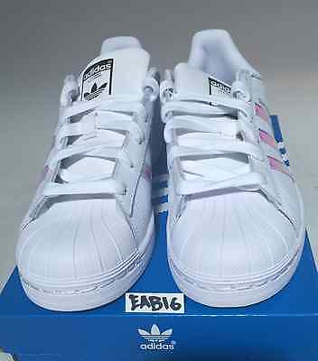 e8c5744a1cd Детская обувь для мальчиков Adidas Superstar J Junior Iridescent Hologram  GS AQ6278 Boys Girls Shell Toe