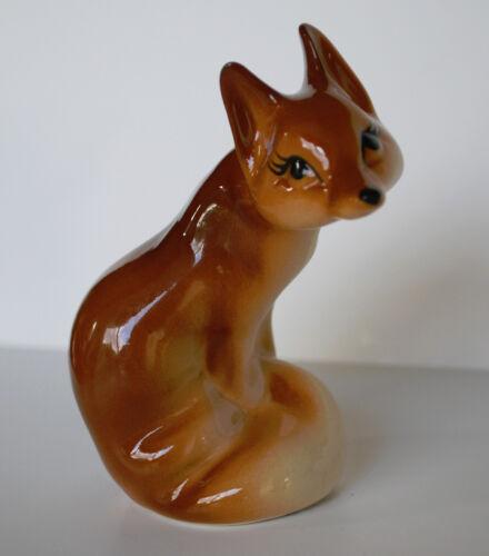 PORCELAIN Figurine  FOX .UNIQUE.Hand Painted