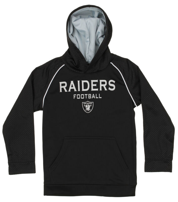 OuterStuff NFL Big Boys Performance Team Color Hoodie, Oakland Raiders
