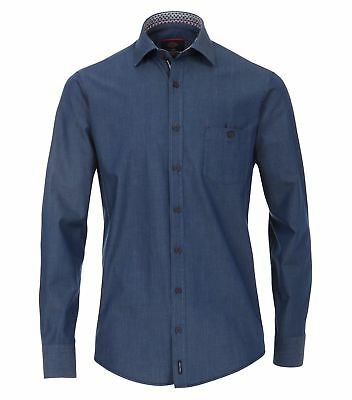 Casa Moda - Comfort Fit - Twill Herren Hemd in blau oder anthrazit (472858400A) ()