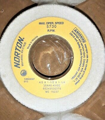 Norton Flaring Cup Grinding Wheel 43 X 1-12 X 1-14 38a46-kvbe