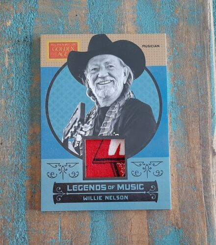WILLIE NELSON SHIRT SWATCH RELIC ~ 2014 PANINI GOLDEN AGE #8 LEGENDS OF MUSIC !!