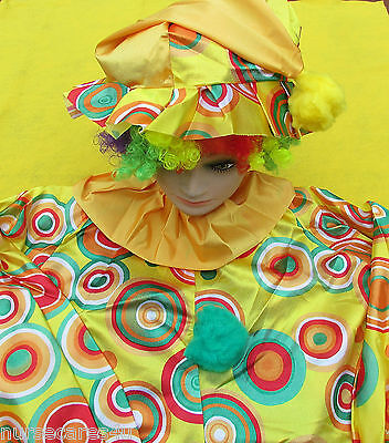 CLOWN COSTUME PLUS SIZE CLOWN WITH WIG, SHOES, SOCKS,HORN BIRTHDAY  OR HALLOWEEN - Plus Size Womens Clown Costumes