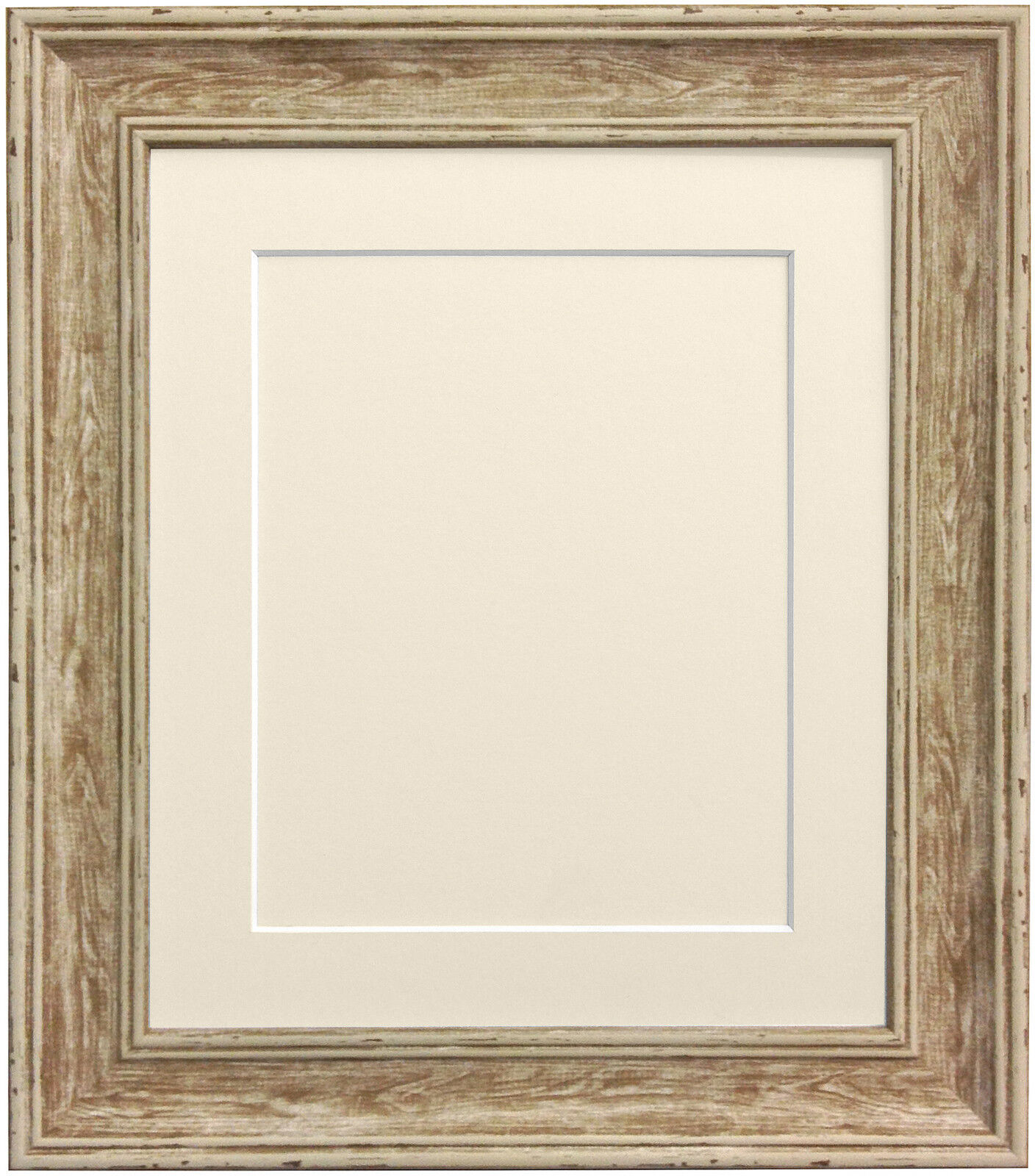 Scandi Vintage Distressed Wood Picture Photo Frames with Mount and ...