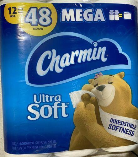 Charmin  Toilet Paper ,Ultra Soft 12 Mega Rolls, 264 Sheets per Roll