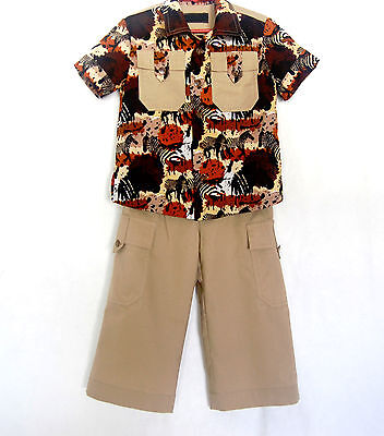 Casual Suits For Boys (*Handcrafted*  Safari SUIT  for Boys 4 (four))