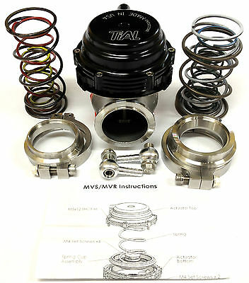 Tial MVR 44mm Wastegate With V  Band Flanges All Springs Pressure Included Black