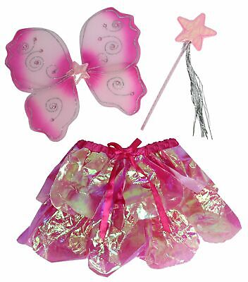 rosa pink Kostüm Fee Flügel Feenset  Schmetterling - Schmetterling Flügel Kostüme Kinder