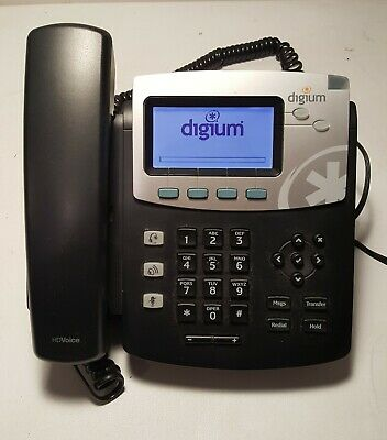 Digium D40 Phone Voip Sip 1teld040lf With Base Lot Of 10 No Power Supply