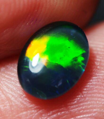 Super Gem A+++ Natural Australian Coober Pedy Opal Triplet 8x6 mm pendant ring