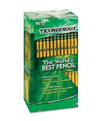 Ticonderoga Woodcase Pencil Hb 2 Happy Kids School Bulk Economy Tuff 96ct Nice