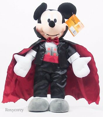Halloween Disney 24 in Mickey Mouse Red & Black Vampire Porch Greeter NWT