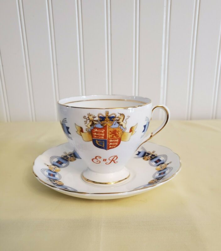 Foley E II R Coronation June 2, 1953 Tea Cup/Saucer Set Queen Elizabeth England