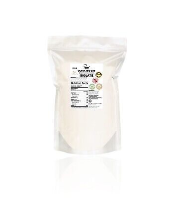 Isolated Soy Protein Powder (Unflavored, Whey Protein Isolate, 2 Pounds, Pure, Soy Free, Free Shipping,)