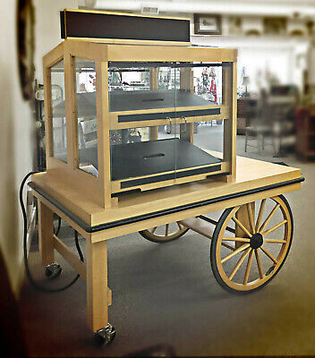 Market Pop-up Cartbakery Displaycaf Kioskshowcase Cabinetlighted Wagon