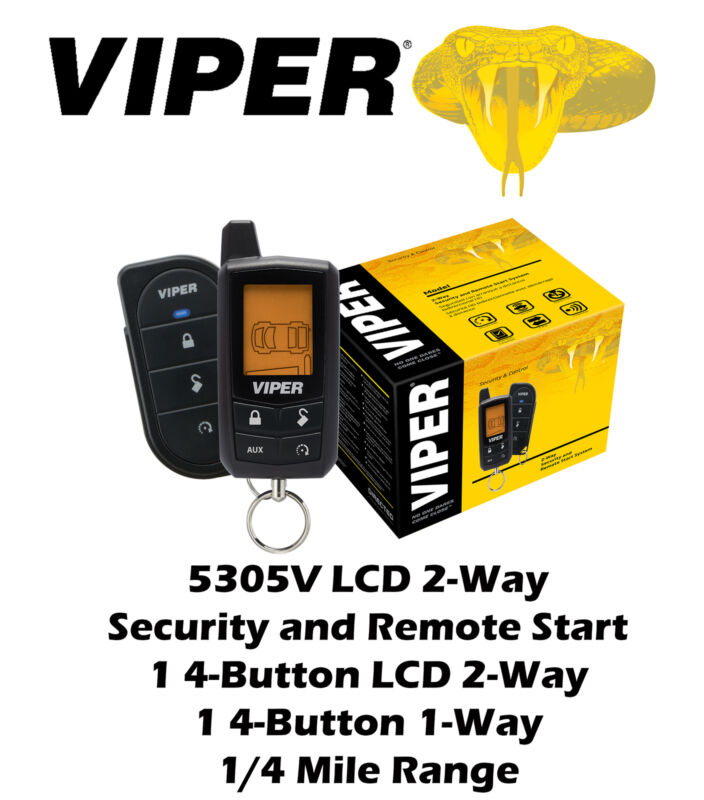 Viper Entry Level LCD 2-Way Security and Remote Start System 1/4 Mile 5305V