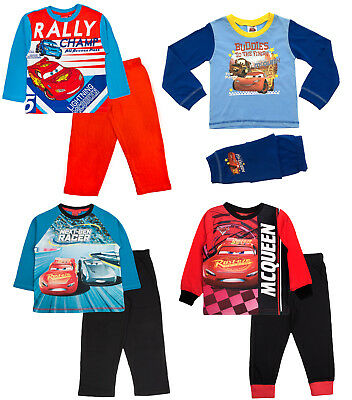 Kid Boys Official Disney Cars Lightning McQueen Long Pyjamas PJ'S Set Gift Size