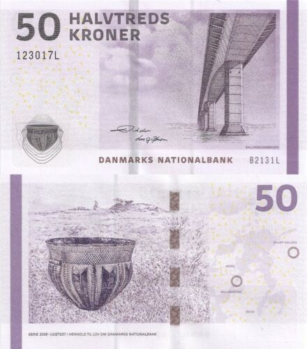 Denmark 50 Kroner (2013) - Bridge/Pottery P-65f, Sign Rohde & Sorensen UNC