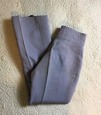 Vintage Ski White Stag Pants Light Blue/gray Foot Straps Women Size 10, 26 Waist