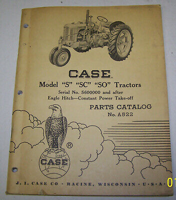 Case S Sc So Tractors Sn 5600000 Up Eagle Hitch Constant Power Take-off A522