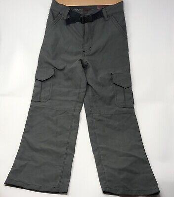 Boys Tony Hawk Cargo Pants Sz 7x Gray Green Skating Outdoor Hiking - Hawk Cargo Pants